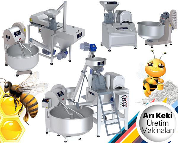 Arı Keki Üretim Makinaları, öğütme makinası ve yoğurma makinası kombinasyonu ile oluşmaktadır. MakinaKon