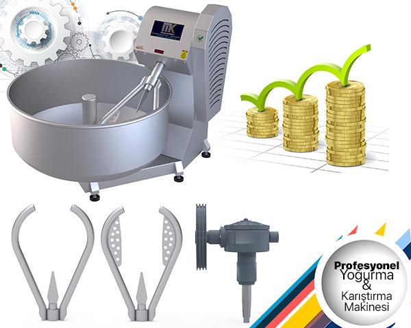 Profesyonel Yoğurma ve Karıştırma Makinesi Fiyatları, MakinaKon