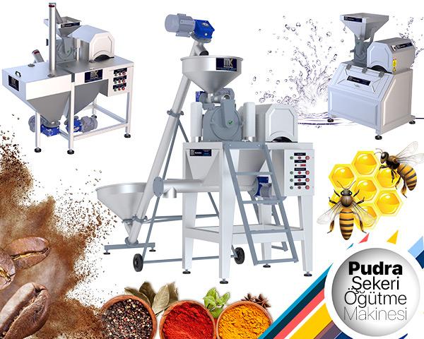 Pudra Şekeri Öğütme Makinası ile şeker, kahve, baharat gibi birçok ürünün öğütme işlemi yapılmaktadır. MakinaKon