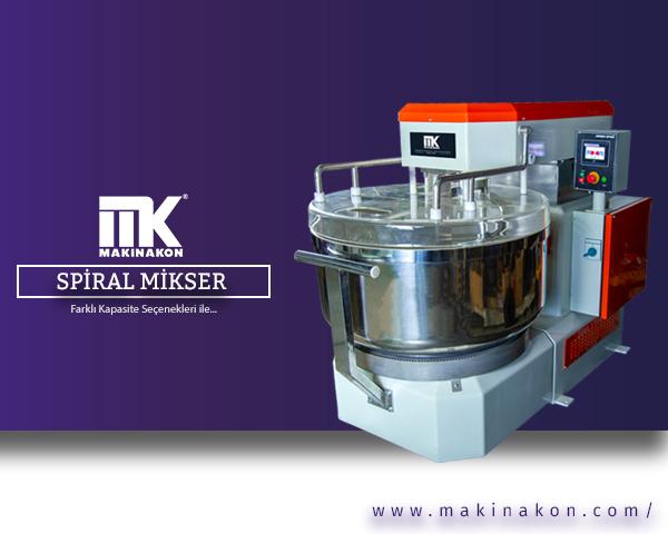 Spiral Mikser; diğer modellere göre daha hızlı yoğurma özelliği sayesinde kullanım alanlarında sıklıkla tercih edilen bir makinadır. MakinaKon