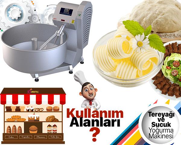 Tereyağı ve Sucuk Yoğurma Makinesi Kullanım Alanları tanıtıcı görsel.
