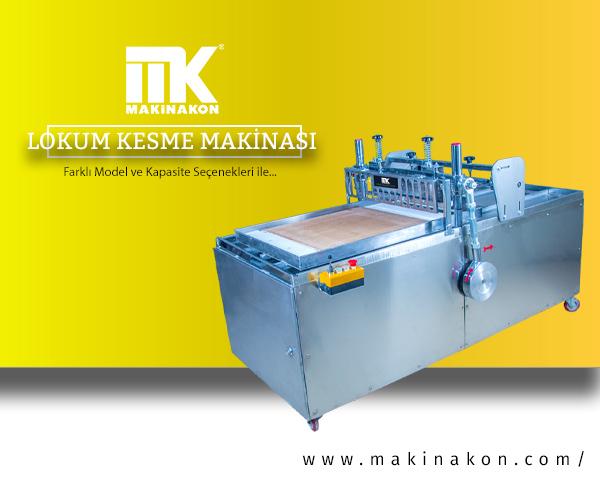 Lokum Kesme Makinası hakkında kapsamlı bilgi içeren makale için hazırlanmış görsel. MakinaKon