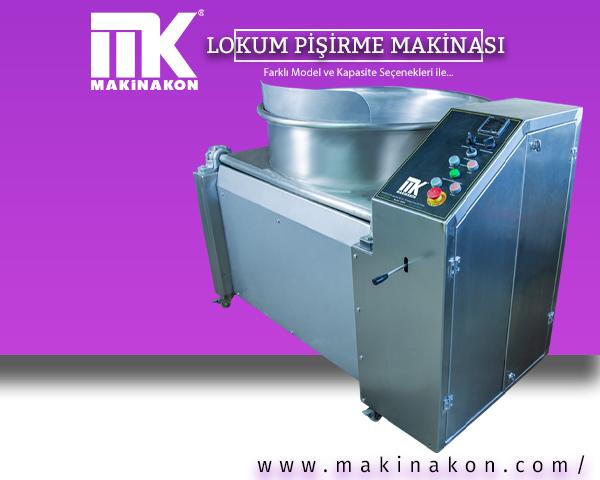 Elektrikli lokum pişirme kazanı hakkında kapsamlı bilgi içeren makale için hazırlanmış görsel. MakinaKon