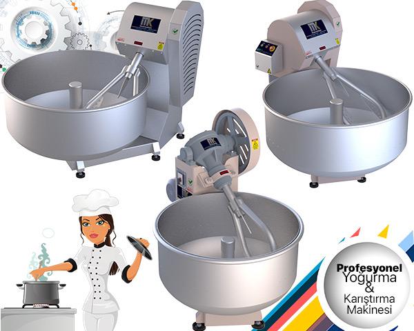 Hamur, çiğ köfte, tereyağı, sucuk gibi gıda mamüllerini hazırlayan yoğurma makinesidir. MakinaKon