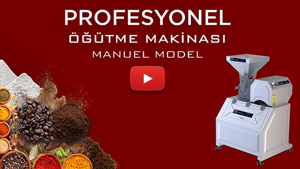 Pudra şekeri makinası manuel model youtube animasyonlu video görselidir.