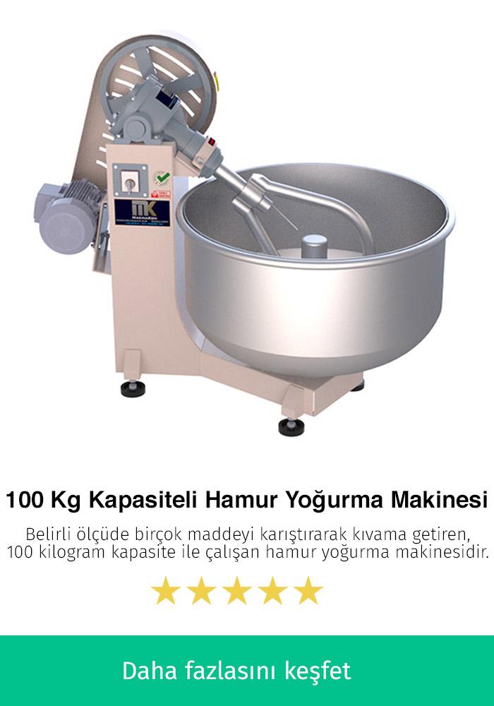 100 Kilogram Kapasiteli Hamur Karma Makinesi