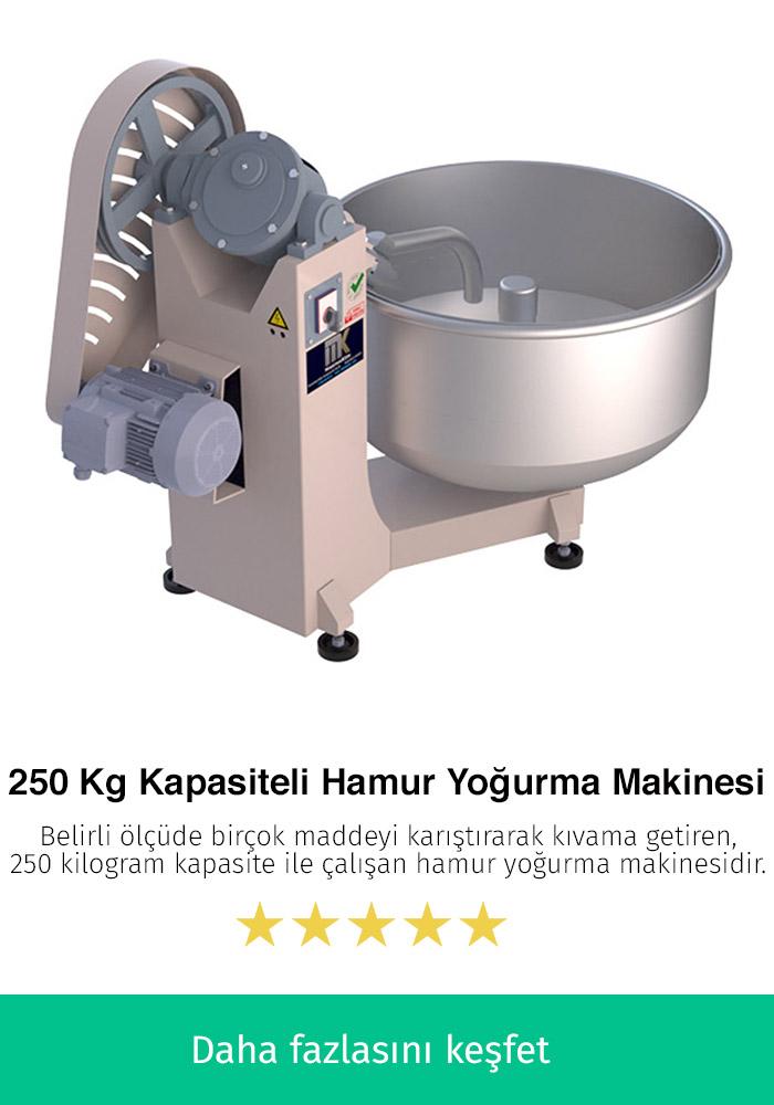 250 Kilogram Kapasiteli Hamur Yoğurma Makinesi