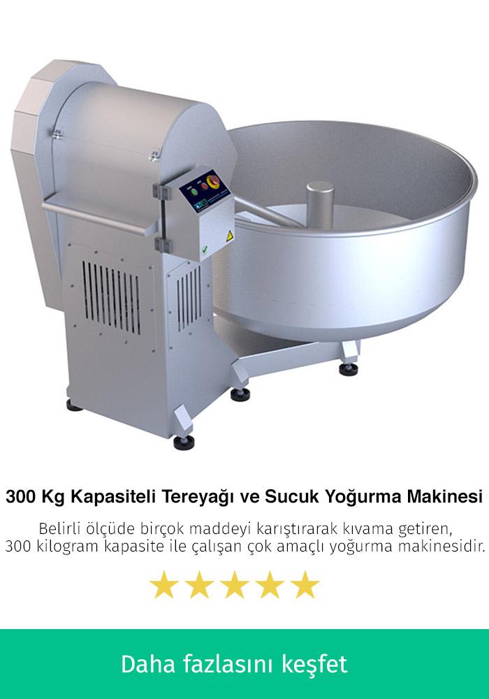 300 Kilogram Kapasiteli Tereyağı ve Sucuk Yapma Makinesi