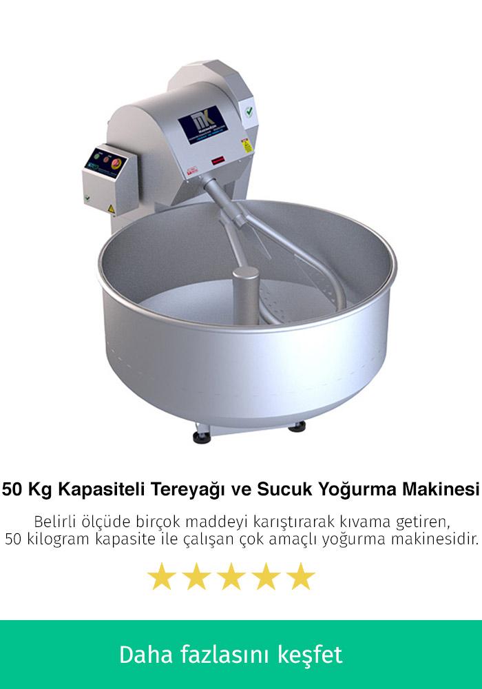 50 Kilogram Kapasiteli Tereyağı ve Sucuk Yoğurma Makinesi
