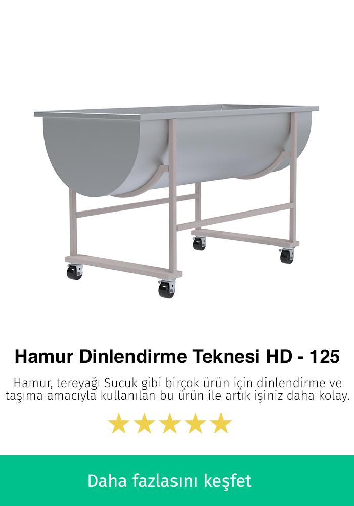 Hamur Dinlendirme Teknesi - HD-125