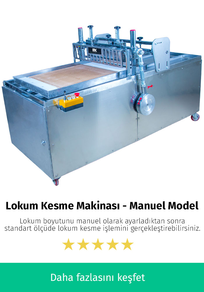 Lokum Kesme Makinası - Manuel Model