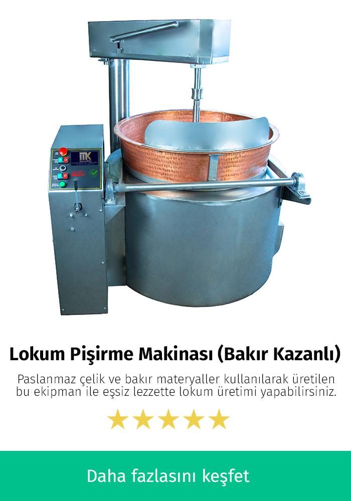 Lokum Pişirme Makinası (Bakır Kazanlı)