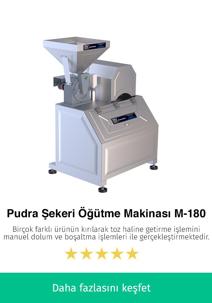 Pudra Şekeri Öğütme Makinası M-180 Manuel
