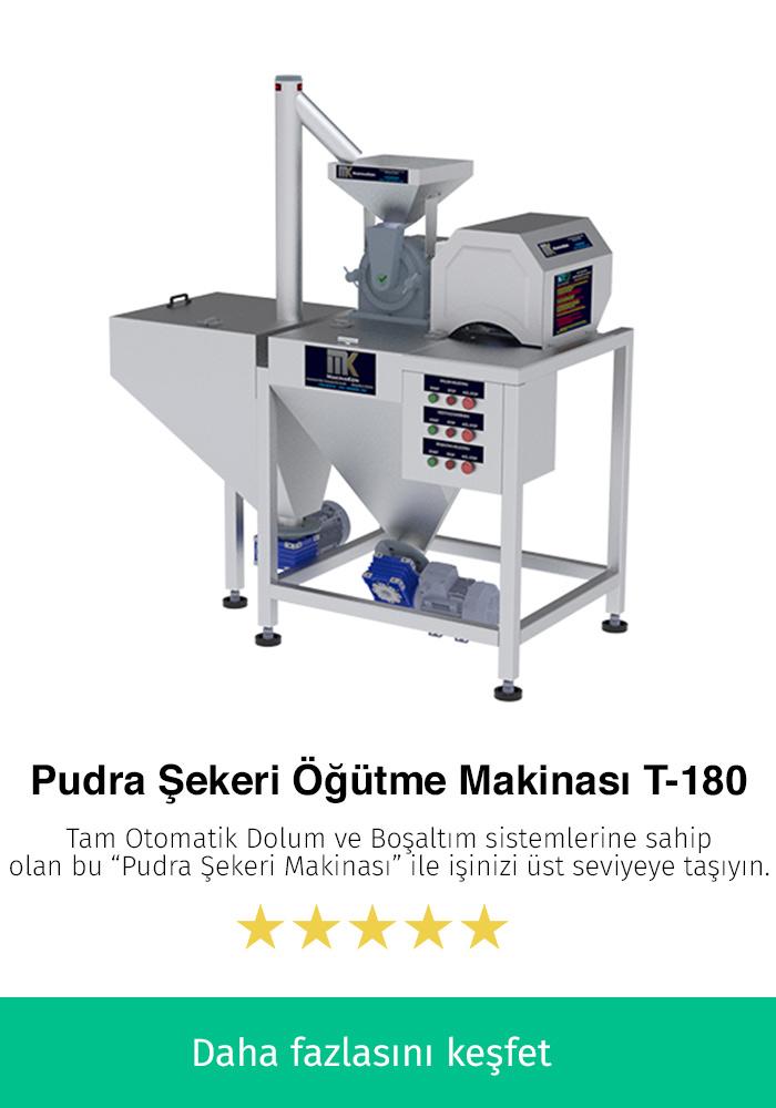 Pudra Şekeri Öğütme Makinesi T-180 Tam Otomatik